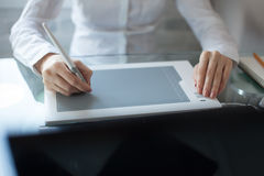 Designer using a graphics pad Stock Photos