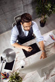 Designer using graphics table Royalty Free Stock Image