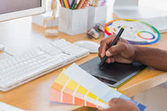 Designer using graphics tablet Stock Photo
