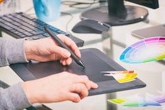 Designer using graphics tablet Stock Photos