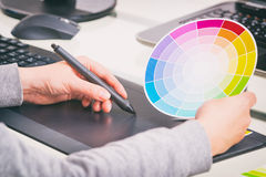 Designer using graphics tablet Stock Photography