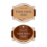 Designer vintage vector labels for bottles. Card f Stock Photography