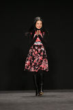 Designer Vivienne Tam walks the runway at the Vivienne Tam fashion show during MBFW Fall 2015. NEW YORK, NY - FEBRUARY 16: Designer Vivienne Tam walks the runway royalty free stock image