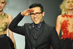 Designer Walter Mendez and  models walk runway Royalty Free Stock Photography