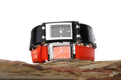 Designer watches. On a rock Royalty Free Stock Photos