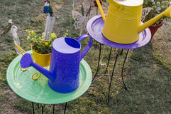 Designer watering cans for lawn Royalty Free Stock Image