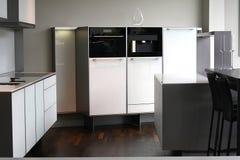 Designer White Kitchen Stock Image