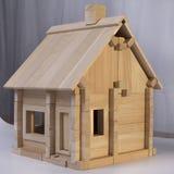 Designer wooden house. Wooden house designer for children Stock Photo