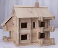 Designer wooden house. Wooden house designer for children Stock Images