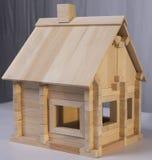 Designer wooden house. Wooden house designer for children Royalty Free Stock Photos