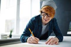 Designer at work Stock Photo