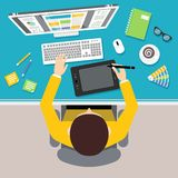 Designer work place Royalty Free Stock Images
