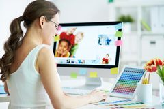 Designer at work Royalty Free Stock Photo