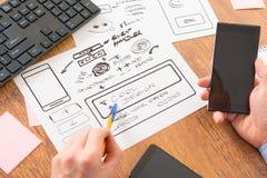 Designer at work Stock Images