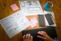 Designer at work Royalty Free Stock Photography