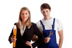 Designer and worker Stock Photo