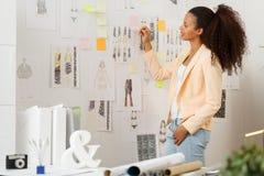 Designer working in atelier Stock Photo
