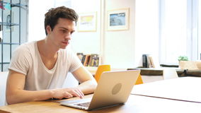Designer Working On Laptop, Using Touchpad stock footage