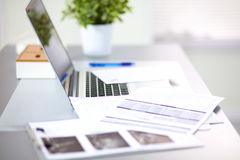 Designer working place at home with computer Stock Image