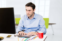Designer working on tablet Royalty Free Stock Photo