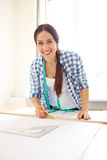 Designer working with template Stock Image
