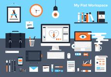 Designer workplace royalty free illustration