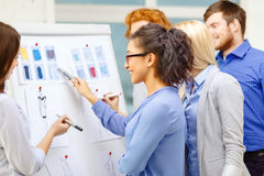 Designers choosing clothes designes at office Stock Photo