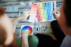 Designers Choosing Color Palette Stock Photography
