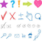 Designers creative icons set for website. Vector. Elements royalty free illustration