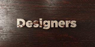 Designers - grungy wooden headline on Maple  - 3D rendered royalty free stock image Royalty Free Stock Photos