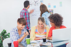 Designers having a brainstorm together Stock Photo