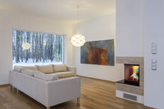 Designers interior - cosy living room Royalty Free Stock Photo