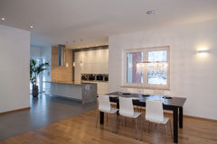 Designers interior - Modern house Stock Images