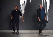 Designers Joshua Cooper and Laurence Chandler attend the Rochambeau - Runway stock images