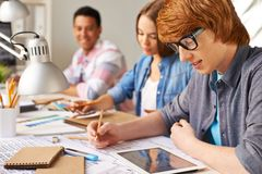 Designers learning stock photography