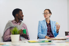Designers at lunch-break Royalty Free Stock Images