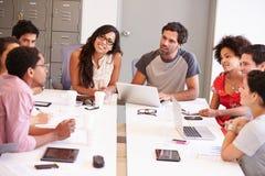 Designers Meeting To Discuss New Ideas stock photo