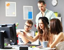 Designers in office. Group of designers in office Stock Image