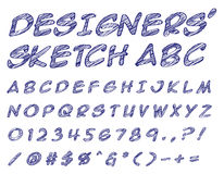 Designers sketched ABC Stock Image