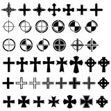 Designers tool 02 - cross. A set of cross.Very high resolution JPG Stock Image