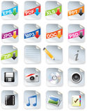 Designers toolkit- web 2.0 icons Royalty Free Stock Images