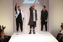 Designers walk the runway at the Control Sector fashion show Stock Photos