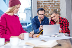 Designers working at project stock images