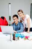 Designers Working In Workshop Stock Images