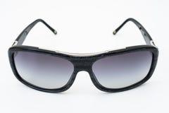 Designerunisexsonnenbrille mit schwarzem und grauem Rahmen Stockfotos