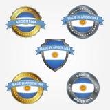 Designetikett av gjort i Argentina också vektor för coreldrawillustration royaltyfri illustrationer