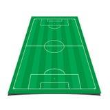 designfältfotboll dig Arkivbild