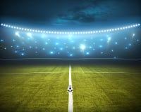 designfältfotboll dig Arkivfoto