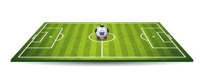 designfältfotboll dig vektor Royaltyfri Fotografi
