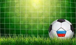 designfältfotboll dig vektor Arkivbild